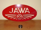 Big metalplate logo JAWA - 50x25cm