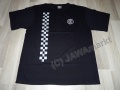 T-Shirt CZ logo, black with checkerboard - M