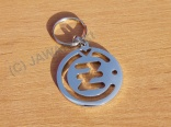 Pendant CZ Logo - polished stainless steel