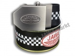 Textil Belt JAWA - in closed can, BLACK chessboard