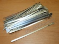 1x band for electro cables - stainless steel