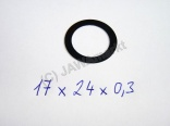 Spacer ring for gearbox 17 x 24 x 0,3