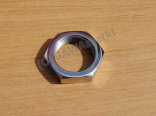 Nut for rear chainwheel - polished stainlees