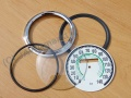 Repair set for rund speedometer 140km - green...