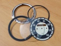 Repair set for rund speedometer 140km - black...