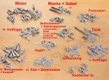 All screws Jawa 350/354 - POLISHED STAINLESS STEEL