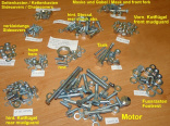 PROFI - all screws for Jawa 350/354 - ZINC