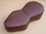 Luxury Seat guitar, brown - italian leather Bonanza